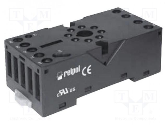 GZP8_Socket; PIN:8; 10A; 250VAC; Mounting: DIN