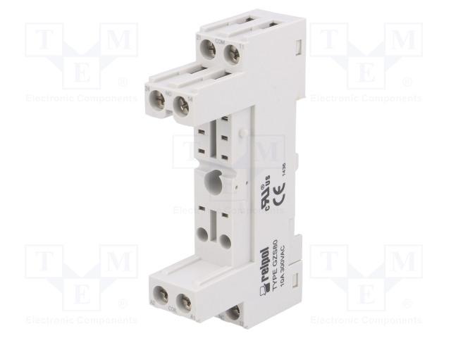 GZS-80 GR_Socket; PIN:8; 10A; 300VAC; Application: RMB841