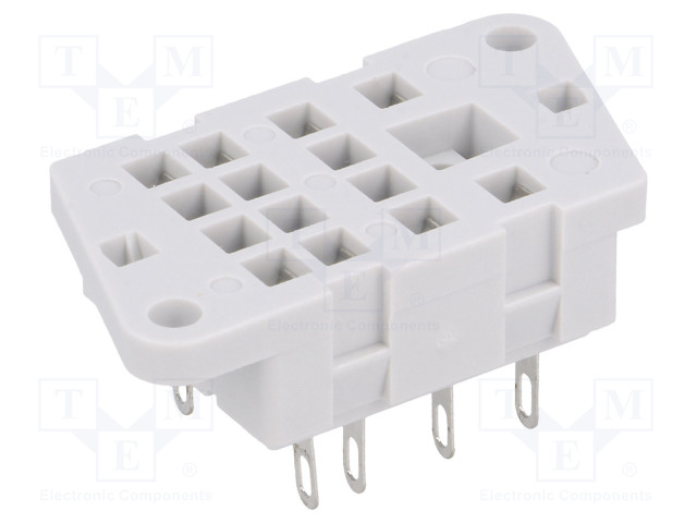 G4/2_Socket; PIN:8; 12A; 250VAC; Mounting: on panel; Series: R2