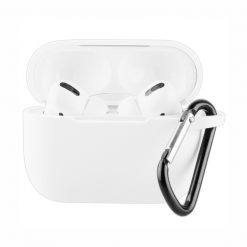 61650_VIVANCO SILICONE CASE FOR AIRPODS PRO WITH CARABINER white