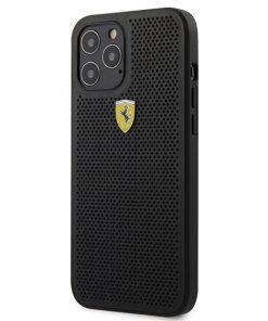 FESPEHCP12LBK_FERRARI HARDCASE FOR IPHONE 12 PRO MAX black backcover