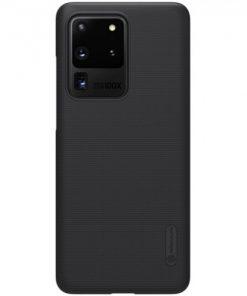N5400_NILLKIN SUPER FROSTED SHIELD CASE SAMUSNG S20 ULTRA black backcover